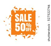 abstract sale banner. sale 50 ... | Shutterstock .eps vector #527522746