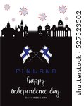 finland independence day ... | Shutterstock .eps vector #527523502