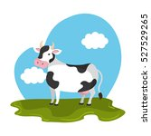 cow animal farm in the field   Shutterstock .eps vector #527529265
