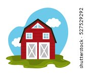 stable farm product emblem | Shutterstock .eps vector #527529292
