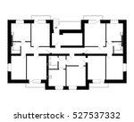 apartment house floor plans.... | Shutterstock .eps vector #527537332
