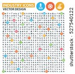 industry icon set clean vector | Shutterstock .eps vector #527540122