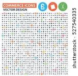 commerce icon set clean vector   Shutterstock .eps vector #527540335