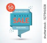 winter sale banner. discount... | Shutterstock .eps vector #527541028