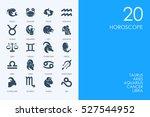 set of horoscope icons | Shutterstock .eps vector #527544952