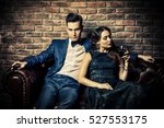 beautiful gorgeous couple in... | Shutterstock . vector #527553175