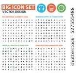 big icon set clean vector | Shutterstock .eps vector #527555488