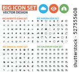 big icon set clean vector | Shutterstock .eps vector #527555608
