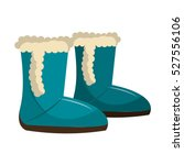 winter boots shoes icon | Shutterstock .eps vector #527556106
