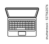 laptop computer isolated icon   Shutterstock .eps vector #527562076