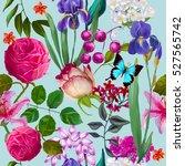 seamless floral pattern | Shutterstock . vector #527565742