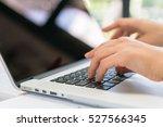 closeup of business woman hand... | Shutterstock . vector #527566345