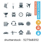 cargo and shipping icons clean ... | Shutterstock .eps vector #527568352