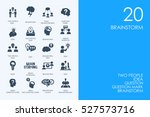 set of brainstorm icons | Shutterstock .eps vector #527573716