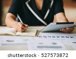 business woman investment...   Shutterstock . vector #527573872