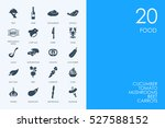 set of food icons | Shutterstock .eps vector #527588152