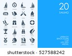 set of sailing icons | Shutterstock .eps vector #527588242