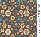 floral summer pattern with... | Shutterstock .eps vector #527591686