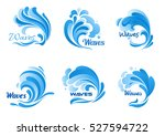 waves vector isolated icons.... | Shutterstock .eps vector #527594722
