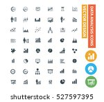 data analysis icon set clean... | Shutterstock .eps vector #527597395