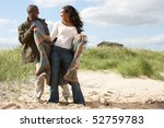 romantic young couple standing... | Shutterstock . vector #52759783