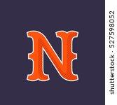 n letter logo. simple and... | Shutterstock .eps vector #527598052