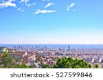 barcelona city view from park...   Shutterstock . vector #527599846