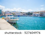 agios nikolaos  crete   june 29 ... | Shutterstock . vector #527604976