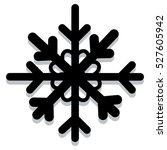 snowflake black silhouette.... | Shutterstock .eps vector #527605942