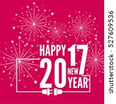 connecting to the new year 2017.... | Shutterstock .eps vector #527609536