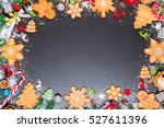 christmas cookies with cone and ... | Shutterstock . vector #527611396