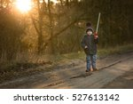 young boy playing outdoor with... | Shutterstock . vector #527613142