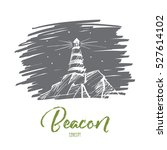 vector hand drawn beacon... | Shutterstock .eps vector #527614102