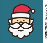 santa claus minimal color flat...