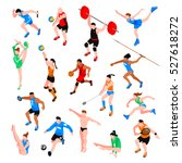 sport isometric set with... | Shutterstock .eps vector #527618272