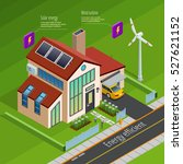 smart home energy generation... | Shutterstock .eps vector #527621152