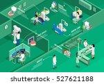 dentistry isometric... | Shutterstock .eps vector #527621188