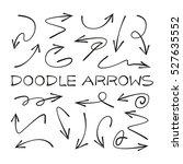 doodle arrows | Shutterstock .eps vector #527635552