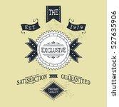 hand lettered catchword vintage ... | Shutterstock . vector #527635906