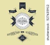 hand lettered catchword vintage ...   Shutterstock . vector #527635912
