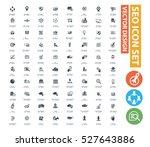 seo development icon set clean... | Shutterstock .eps vector #527643886