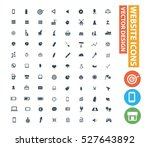 website icon set clean vector