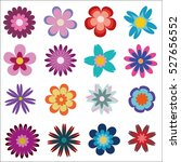 flowers icon set isolated on... | Shutterstock .eps vector #527656552