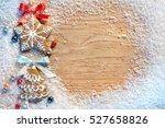 christmas cookies. copy space... | Shutterstock . vector #527658826