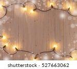 Christmas Lights On White...