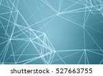 abstract polygonal space blue... | Shutterstock . vector #527663755