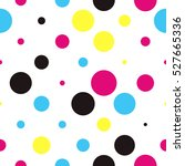 seamless polka dot pattern with ... | Shutterstock .eps vector #527665336