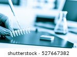 pcr strip test tubes  for pcr... | Shutterstock . vector #527667382