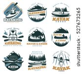 nine isolated colorful emblems... | Shutterstock .eps vector #527673265
