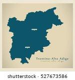 modern map   trentino   alto... | Shutterstock .eps vector #527673586